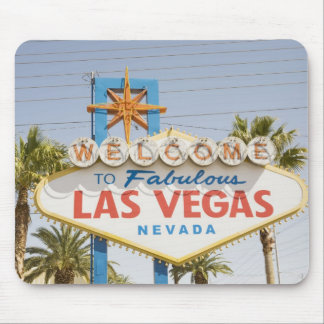 Welcome to fabulous las vegas nevada sign mouse pad