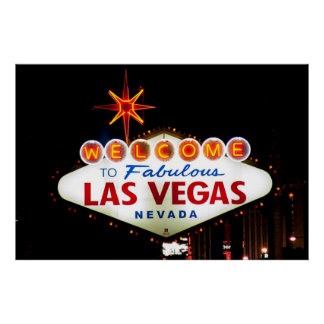 Welcome to Fabulous Las Vegas Nevada SIgn Night Poster