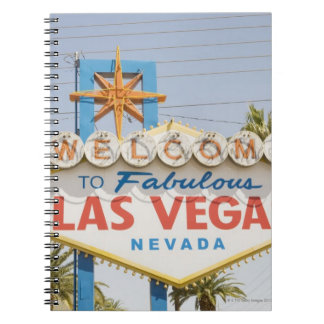 Welcome to fabulous las vegas nevada sign spiral notebook