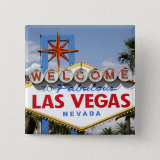 Welcome to Fabulous Las Vegas Nevada Sign Pinback Button