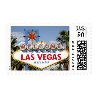 Welcome to Fabulous Las Vegas Nevada Sign Postage