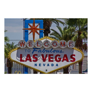 Welcome to Fabulous Las Vegas Nevada sign Poster