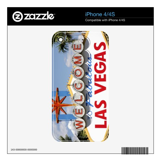 Welcome to Fabulous Las Vegas Nevada Sign Skin For iPhone 4