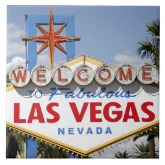 Welcome to Fabulous Las Vegas Nevada Sign Tile