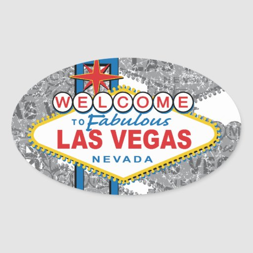 Welcome to fabulous las vegas oval sticker zazzle for Arts and crafts stores in las vegas