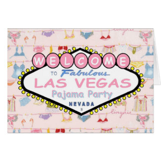 Welcome to Fabulous Las Vegas Pajama Party Card