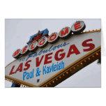 Welcome to Fabulous Las Vegas Paul & Kayleigh Card