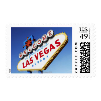 Welcome To Fabulous Las Vegas Postage Stamps