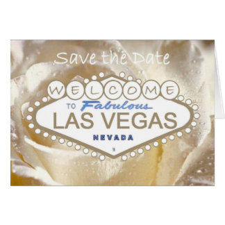Welcome to Fabulous Las Vegas Save the Date Card