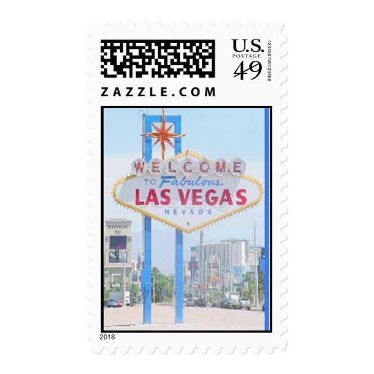 Welcome to Fabulous Las Vegas Sign Stamp