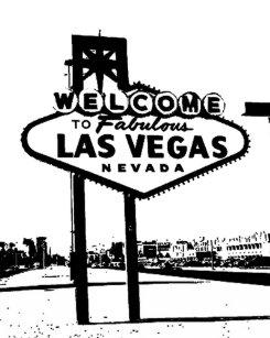 Black And White Las Vegas Postcards Zazzle