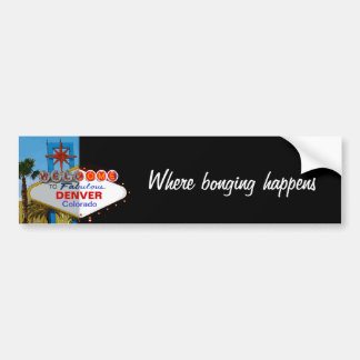 Welcome to Fabulous Your Town! Bumper Sticker