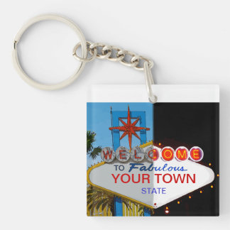 Welcome to Fabulous Your Town! Keychain