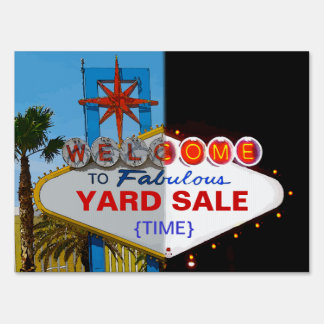 Welcome to Fabulous Your Yard Sale! Yard Sign
