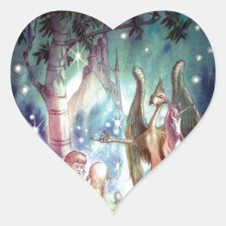 Welcome to Fairyland Heart Sticker