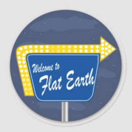 Welcome to Flat Earth Sticker