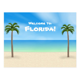 Welcome to Florida: Beach Scene Postcard
