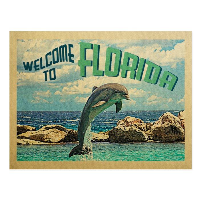 Vintage Antique Estate Marineland of Florida Travel Vacation Brochure Hotel Pamphlet Card Dolphins Porpoises