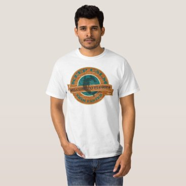 Beach Themed Welcome to Florida Keep Calm and Swim Faster T-Shirt