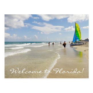 Welcome to Florida / ocean and beach Postcard