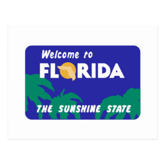 Welcome to Florida - USA Road Sign Postcard