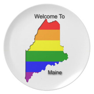 Welcome To Gay Maine Plate