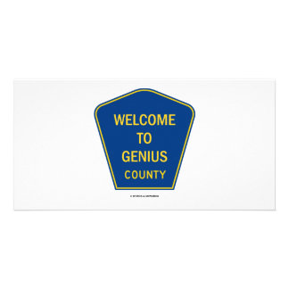 Welcome To Genius County (Signs) Card