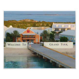 """Welcome To Grand Turk"", photography, Caribbean Photo Print"