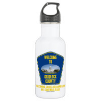 Welcome To Gridlock County (U.S. Congress Humor) 18oz Water Bottle