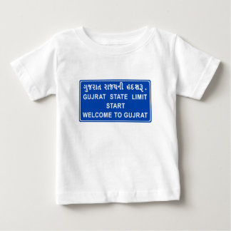 Welcome To Gujarat, Road Sign, India Baby T-Shirt
