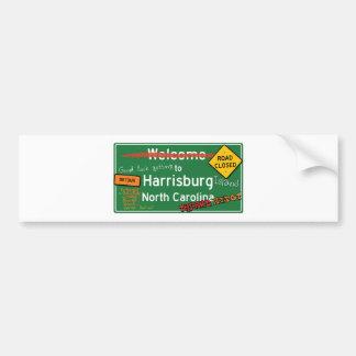 Welcome To Harrisburg North Carolina Bumper Sticker