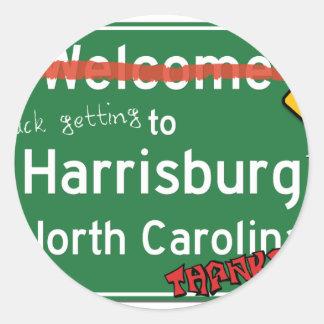Welcome To Harrisburg North Carolina Classic Round Sticker