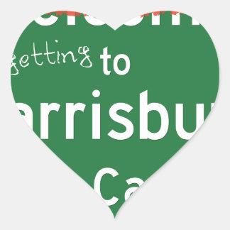 Welcome To Harrisburg North Carolina Heart Sticker
