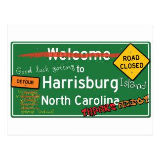 Welcome To Harrisburg North Carolina Postcard