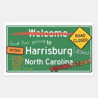 Welcome To Harrisburg North Carolina Rectangular Sticker