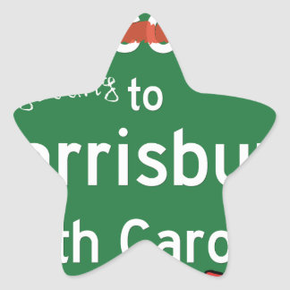 Welcome To Harrisburg North Carolina Star Sticker