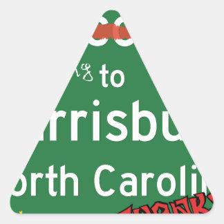 Welcome To Harrisburg North Carolina Triangle Sticker