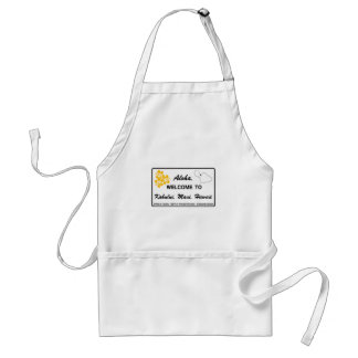 Welcome to Hawaii - USA Road Sign Adult Apron
