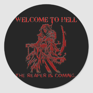 Welcome to Hell Round Sticker