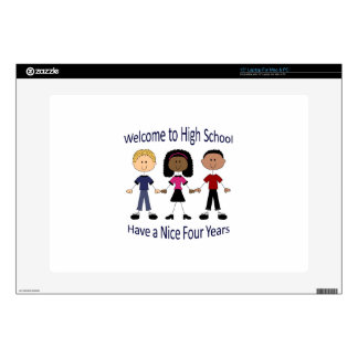 """Welcome To High School 15"""" Laptop Skin"""