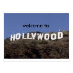 welcome to hollywood postcard