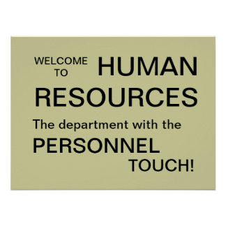 Welcome to Human Resources Department Sign