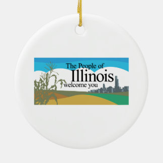 Welcome to Illinois - USA Road Sign Christmas Tree Ornament