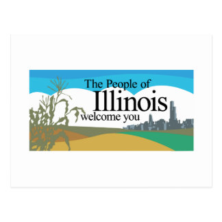 Welcome to Illinois - USA Road Sign Postcard