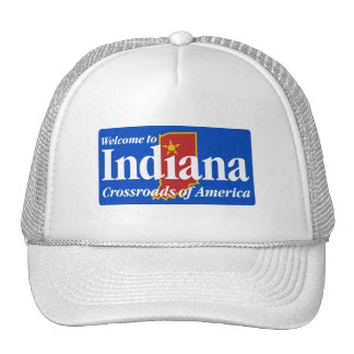 Welcome to Indiana - USA Road Sign Trucker Hat