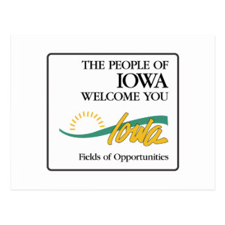 Welcome to Iowa - USA Road Sign Postcard