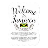 Welcome to Jamaica | Destination Wedding Custom Invitation