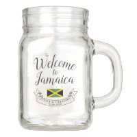 Welcome to Jamaica | Destination Wedding Custom Mason Jar