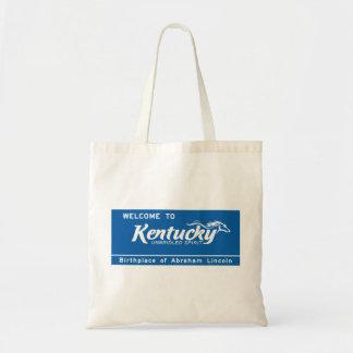 Welcome to Kentucky - USA Road Sign Bag