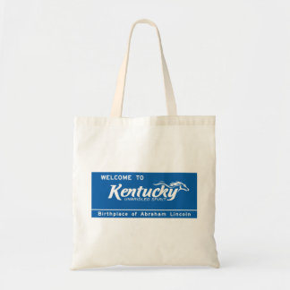 Welcome to Kentucky - USA Road Sign Budget Tote Bag
